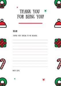 Christmas Present Gratitude Appreciation Special Letter