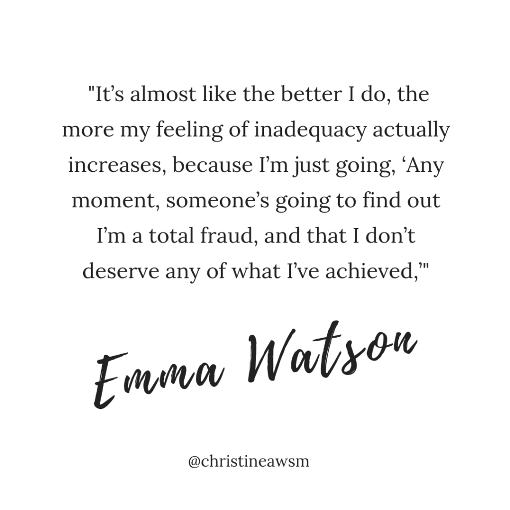 how to overcome selfdoubts imposter-syndrom emma watson